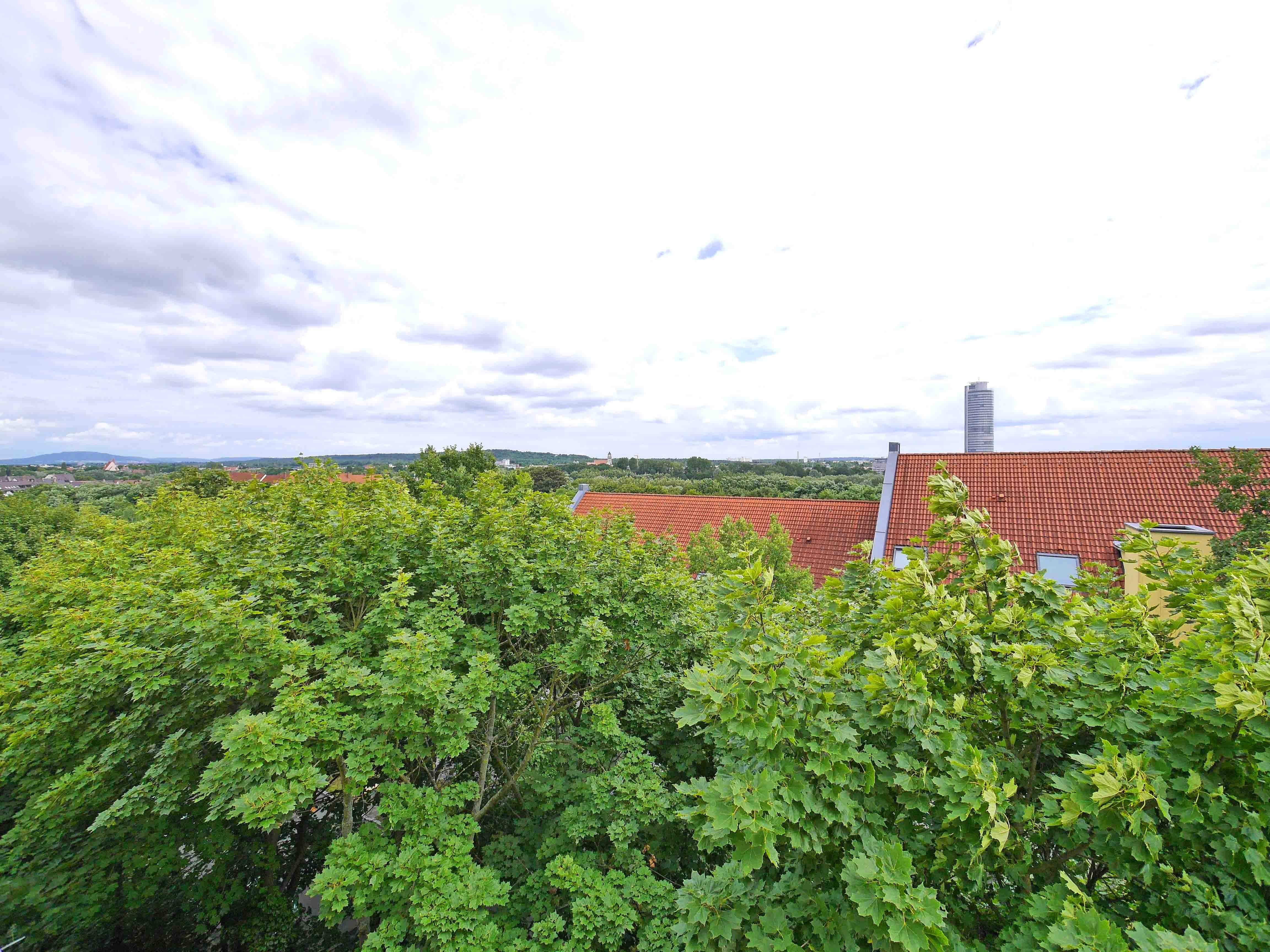 Grüne Dachterrasse verkauft ein traum im dach penthouse mit balkon und
